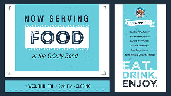 New food at Grizzy Bend!