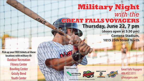 Military Night with the Great Falls Voyagers